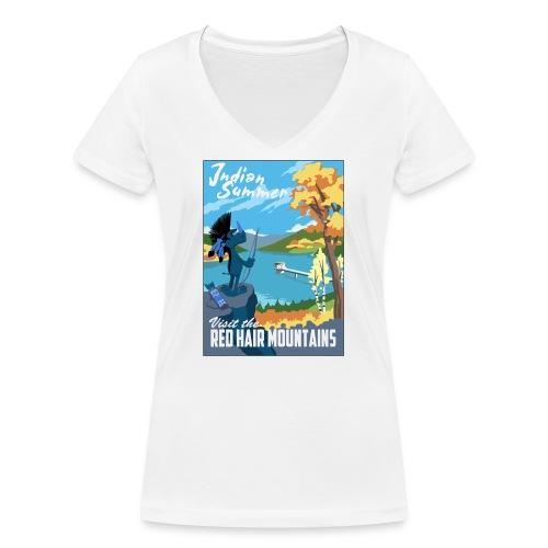 Indian Summer - Frauen Bio-T-Shirt mit V-Ausschnitt von Stanley & Stella