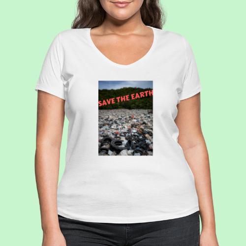 save the earth - T-shirt bio col V Stanley & Stella Femme