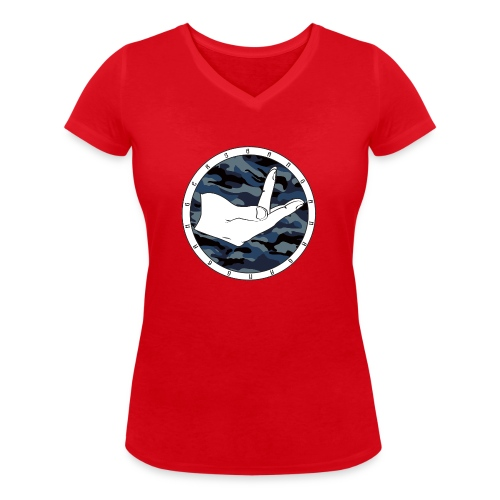 COLORBENDED png - Vrouwen bio T-shirt met V-hals van Stanley & Stella