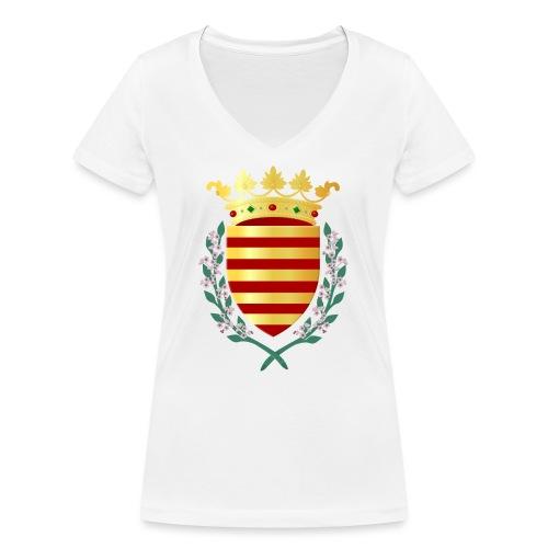 Wapenschild Borgloon - Vrouwen bio T-shirt met V-hals van Stanley & Stella