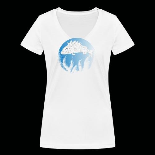 Fisch - Frauen Bio-T-Shirt mit V-Ausschnitt von Stanley & Stella