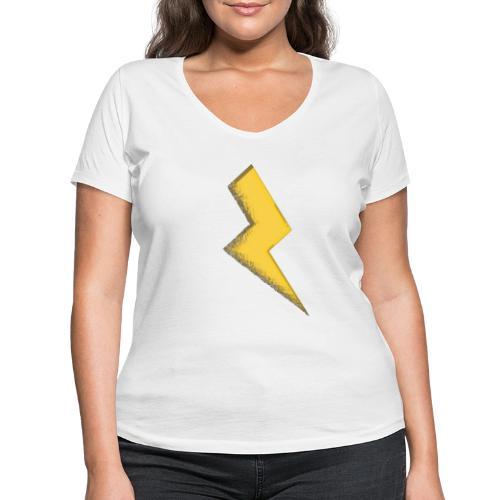 Fulmine - T-shirt ecologica da donna con scollo a V di Stanley & Stella