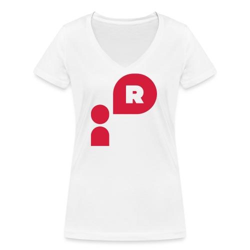 Demonstrant röd - Ekologisk T-shirt med V-ringning dam från Stanley & Stella