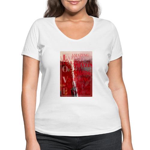 Love Amazing - Ekologisk T-shirt med V-ringning dam från Stanley & Stella