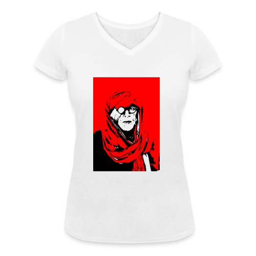 L'homme rouge représente la terre rouge d'Afrique. - T-shirt bio col V Stanley & Stella Femme