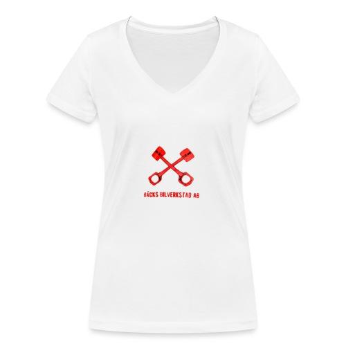 Bäcks bilverkstad - Ekologisk T-shirt med V-ringning dam från Stanley & Stella