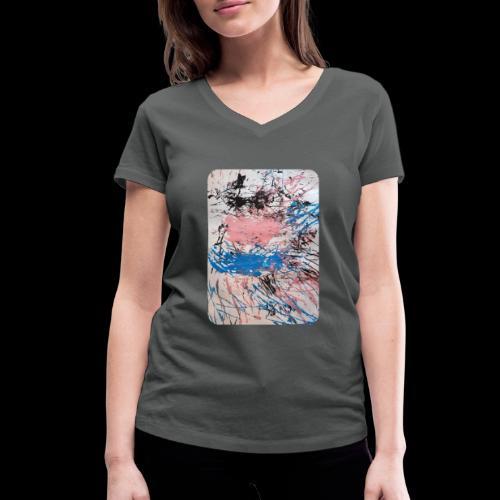 Emelie Kunstwerk V. - Frauen Bio-T-Shirt mit V-Ausschnitt von Stanley & Stella