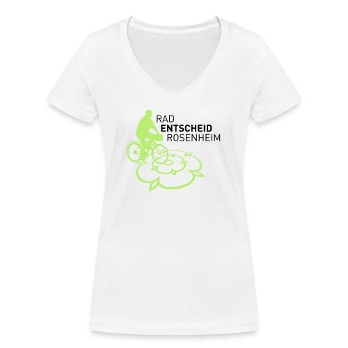 Männer_Logo grün - Frauen Bio-T-Shirt mit V-Ausschnitt von Stanley & Stella