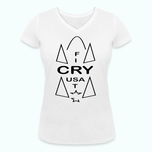cry usa - Frauen Bio-T-Shirt mit V-Ausschnitt von Stanley & Stella