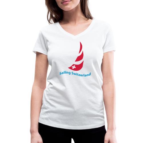 logo sailing switzerland - Frauen Bio-T-Shirt mit V-Ausschnitt von Stanley & Stella