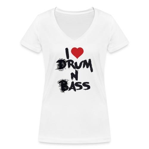 I <3 Rum N Ass - T-shirt bio col V Stanley & Stella Femme