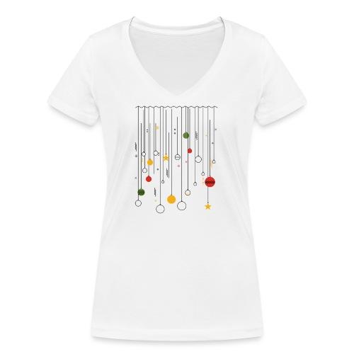 Christmas - Women's Organic V-Neck T-Shirt by Stanley & Stella