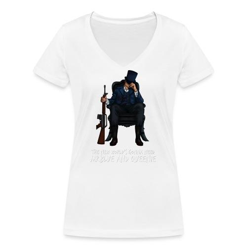 MrBlue's New World - Women's Organic V-Neck T-Shirt by Stanley & Stella
