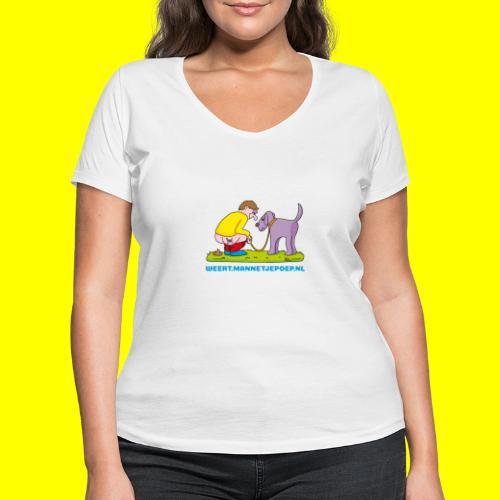 Mannetje Poep Illustratie - Vrouwen bio T-shirt met V-hals van Stanley & Stella