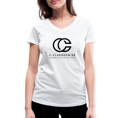 C-Claesson Webbdesign - Ekologisk T-shirt med V-ringning dam från Stanley & Stella
