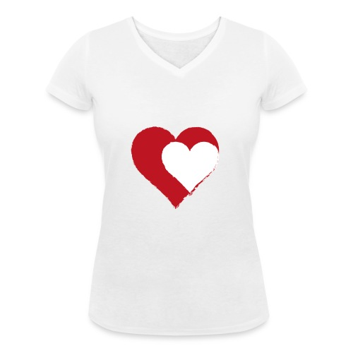 2LOVE - Ekologiczna koszulka damska z dekoltem w serek Stanley & Stella