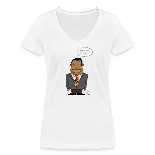 Julian Cannonball Adderley - Frauen Bio-T-Shirt mit V-Ausschnitt von Stanley & Stella