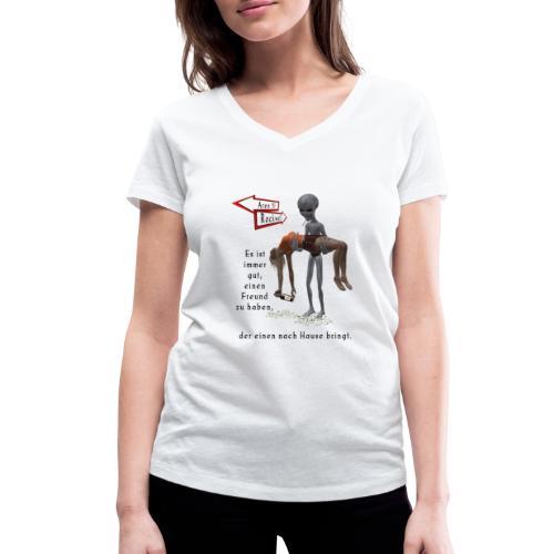 Grey Alien - Frauen Bio-T-Shirt mit V-Ausschnitt von Stanley & Stella