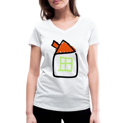 House Line Drawing Pixellamb - Frauen Bio-T-Shirt mit V-Ausschnitt von Stanley & Stella