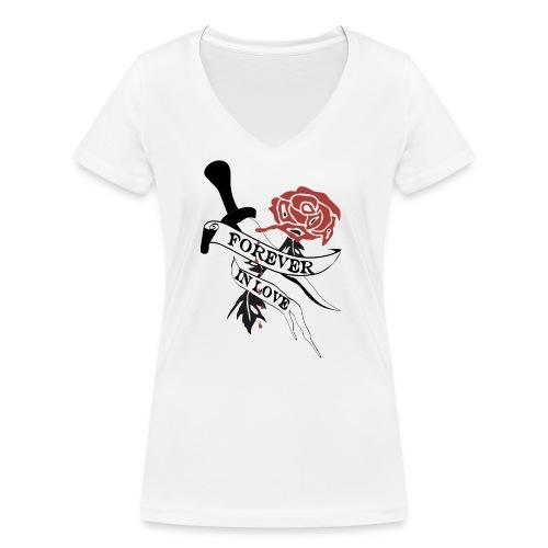 Forever in Love - Frauen Bio-T-Shirt mit V-Ausschnitt von Stanley & Stella