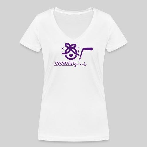Hockey Girl II - Frauen Bio-T-Shirt mit V-Ausschnitt von Stanley & Stella