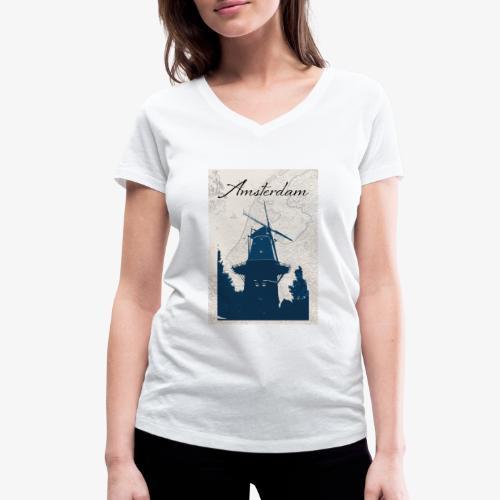 Amsterdam city - T-shirt ecologica da donna con scollo a V di Stanley & Stella