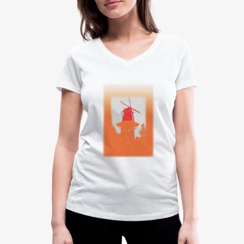 Mills orange - T-shirt ecologica da donna con scollo a V di Stanley & Stella