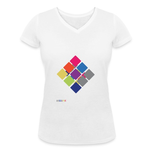 Cube 2 - Women's Organic V-Neck T-Shirt by Stanley & Stella