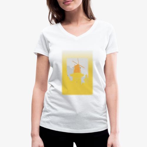 Mills yellow - T-shirt ecologica da donna con scollo a V di Stanley & Stella