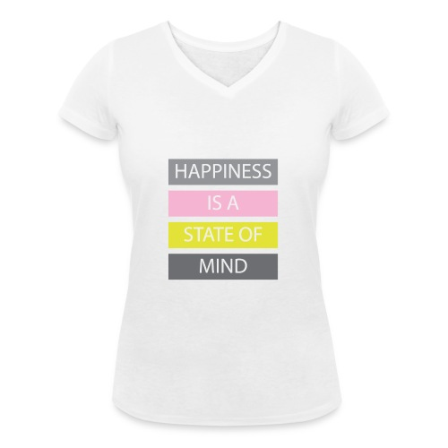 Happiness - Women's Organic V-Neck T-Shirt by Stanley & Stella