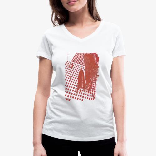 Digital Landscape - T-shirt ecologica da donna con scollo a V di Stanley & Stella