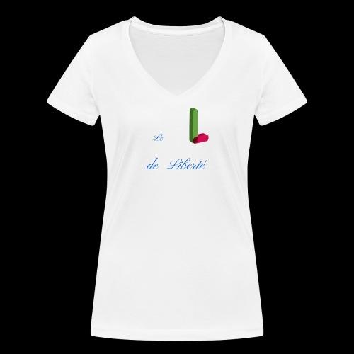 Alphabet - T-shirt bio col V Stanley & Stella Femme