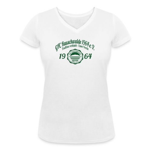 shirt_logo_groß_grün - Frauen Bio-T-Shirt mit V-Ausschnitt von Stanley & Stella