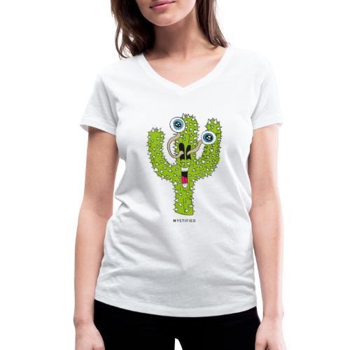 Mystified Cactus - Vrouwen bio T-shirt met V-hals van Stanley & Stella