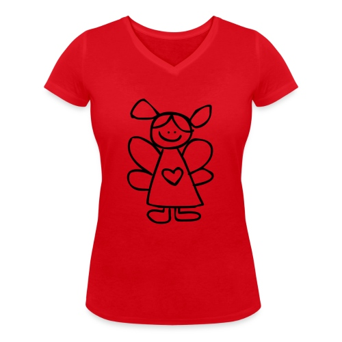 belinda's engeltje - Vrouwen bio T-shirt met V-hals van Stanley & Stella