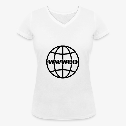 WWWeb (black) - Women's Organic V-Neck T-Shirt by Stanley & Stella