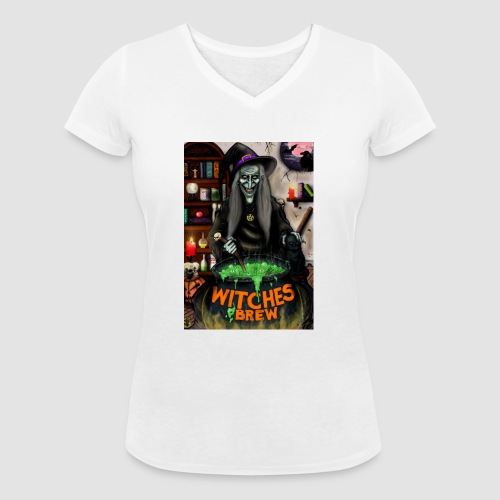 The Witch - Women's Organic V-Neck T-Shirt by Stanley & Stella