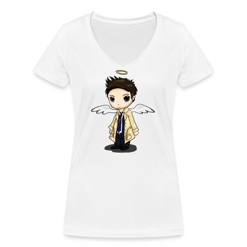 Team Castiel (dark) - Women's Organic V-Neck T-Shirt by Stanley & Stella