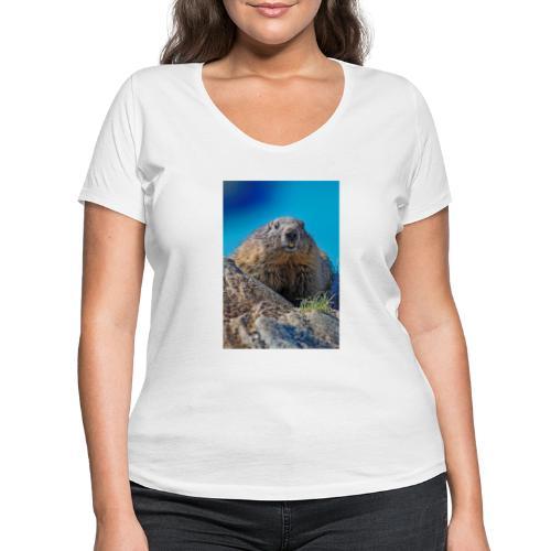 Das Murmeltier - Frauen Bio-T-Shirt mit V-Ausschnitt von Stanley & Stella