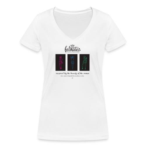 The felmates erotical artworks 3 - Frauen Bio-T-Shirt mit V-Ausschnitt von Stanley & Stella
