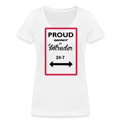 proud owner_of_an_intrude - Ekologisk T-shirt med V-ringning dam från Stanley & Stella