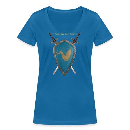 Stemma Drago - T-shirt ecologica da donna con scollo a V di Stanley & Stella