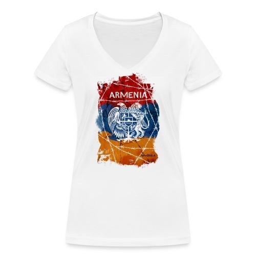 Armenia - Frauen Bio-T-Shirt mit V-Ausschnitt von Stanley & Stella