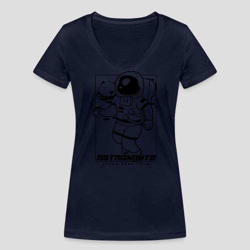 Astronauts loves Beerpong - Frauen Bio-T-Shirt mit V-Ausschnitt von Stanley & Stella