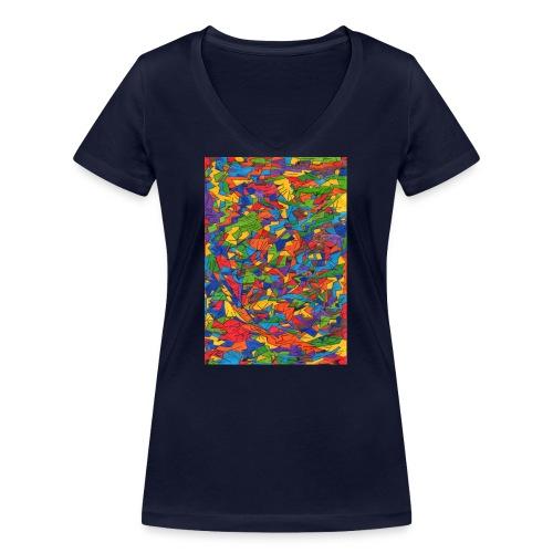 Color_Style - Camiseta ecológica mujer con cuello de pico de Stanley & Stella
