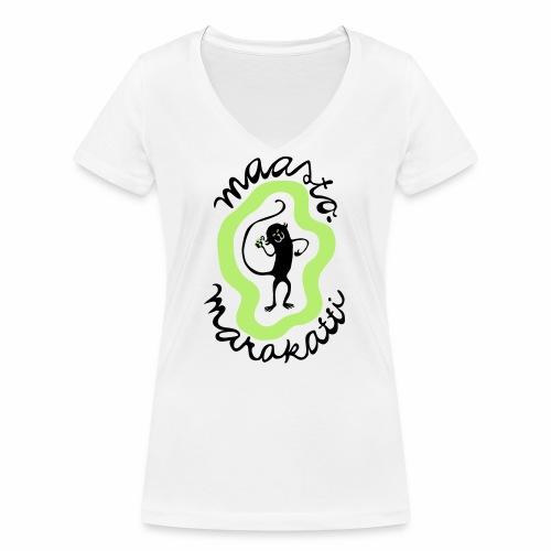 Maastomarakatti - Stanley & Stellan naisten v-aukkoinen luomu-T-paita