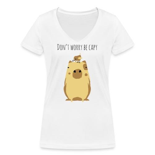 Wasserschwein Spruch - Frauen Bio-T-Shirt mit V-Ausschnitt von Stanley & Stella