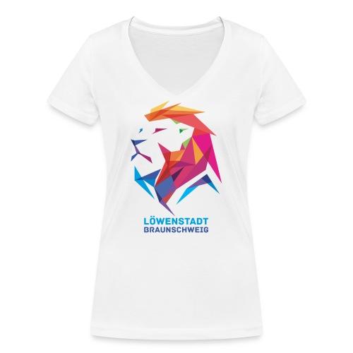 Löwenstadt Design 7 - Frauen Bio-T-Shirt mit V-Ausschnitt von Stanley & Stella