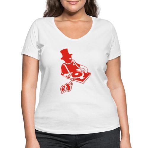 DJ Anno 1887 © forbiddenshirts.de - Frauen Bio-T-Shirt mit V-Ausschnitt von Stanley & Stella