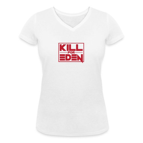 Women's Shoulder-Free Tank Top - Women's Organic V-Neck T-Shirt by Stanley & Stella